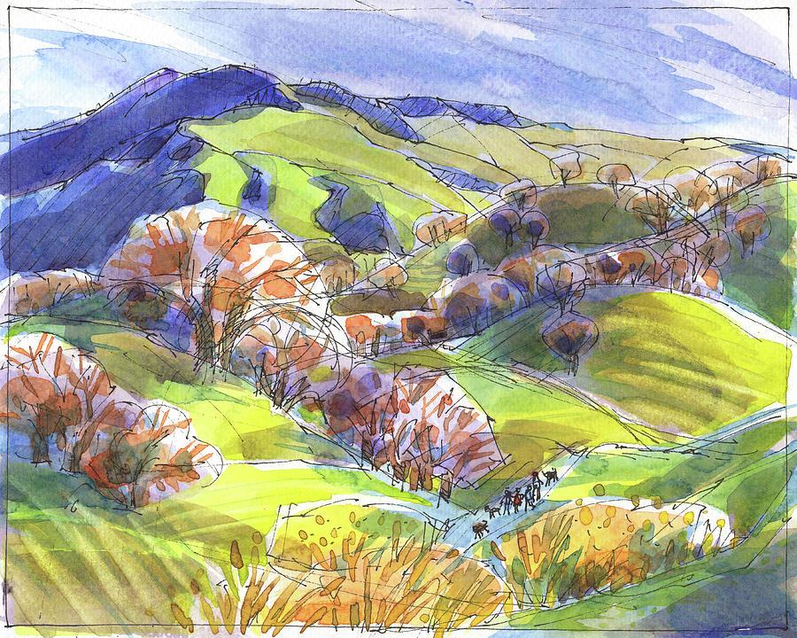 February Landscape with Mount Diablo by Judith Kunzle