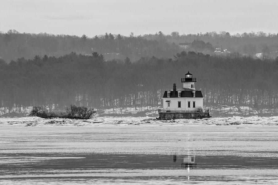Esopus Meadows Lighthouse Photograph - February Morning at Esopus Light by Jeff Severson