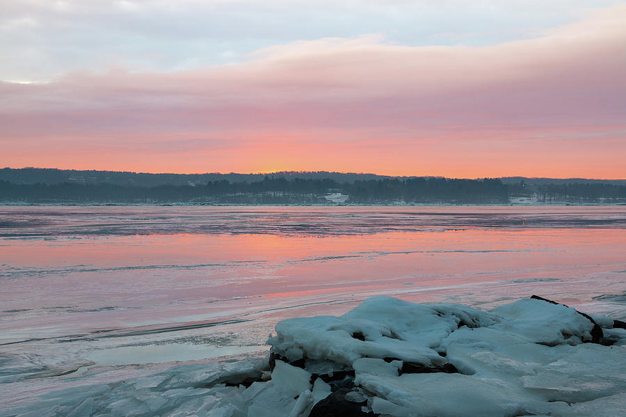 Hudson Valley Photograph - February Sunrise On The Hudson by Jeff Severson