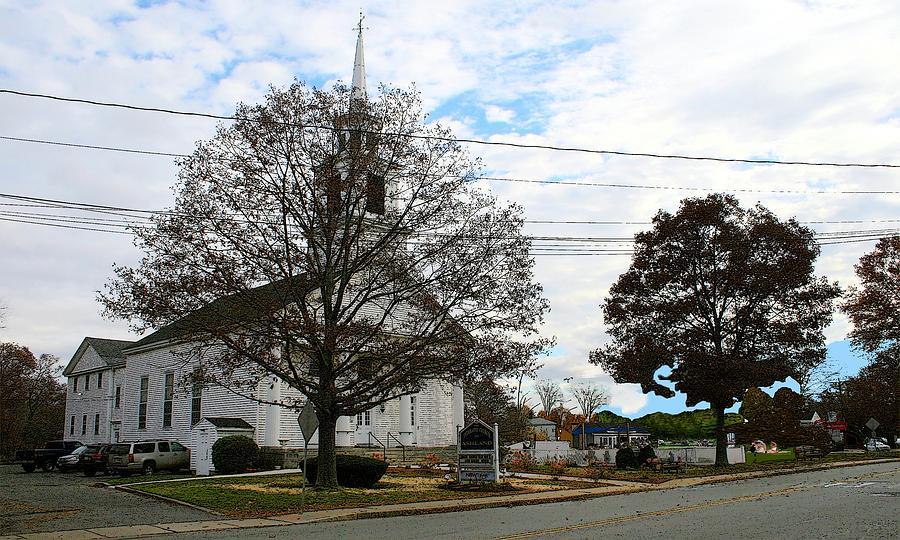 Church Digital Art - Federated Church Ashland Mass by Cliff Wilson