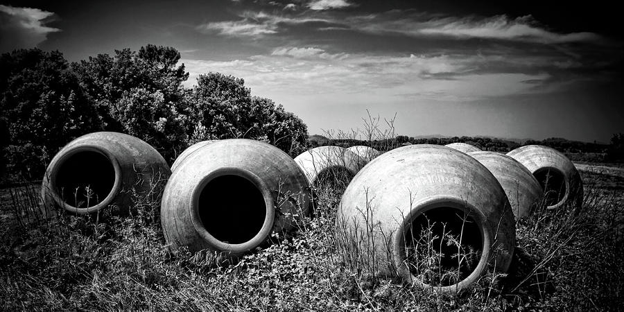 Pots Photograph - Feed Me - Black And White by Tatiana Travelways