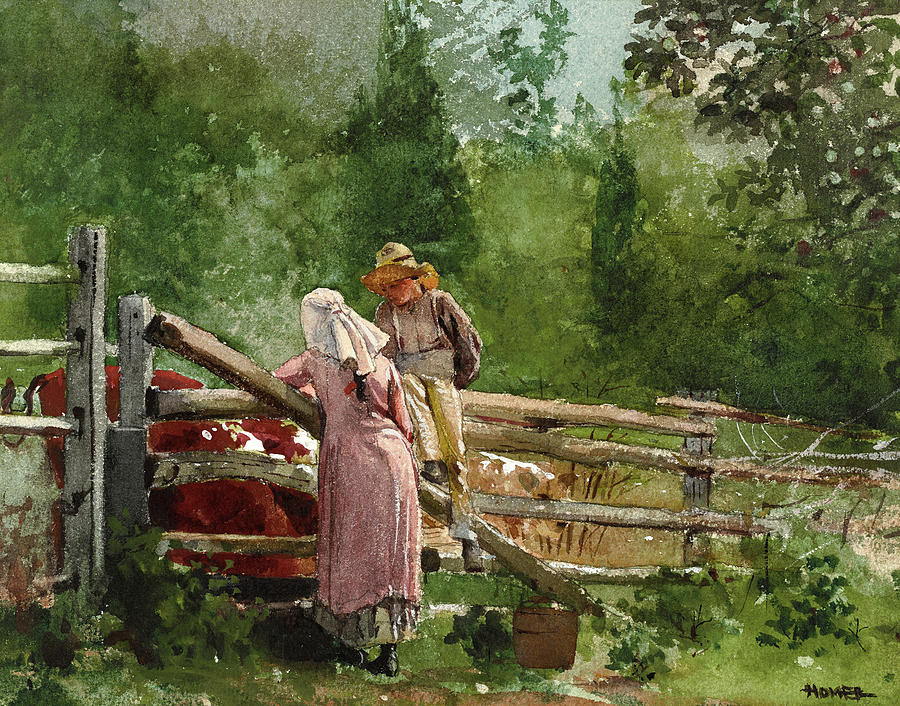 Winslow Homer Painting - Feeding Time, 1878 by Winslow Homer