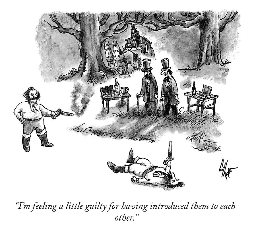Feeling A Little Guilty Drawing by Frank Cotham