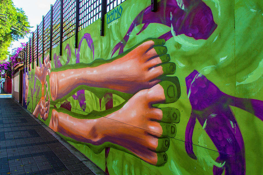 Feet First, Street Art, Lima, Peru by Venetia Featherstone-Witty