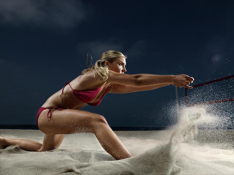 Female Beach Volleyball Photograph by Patrik Giardino