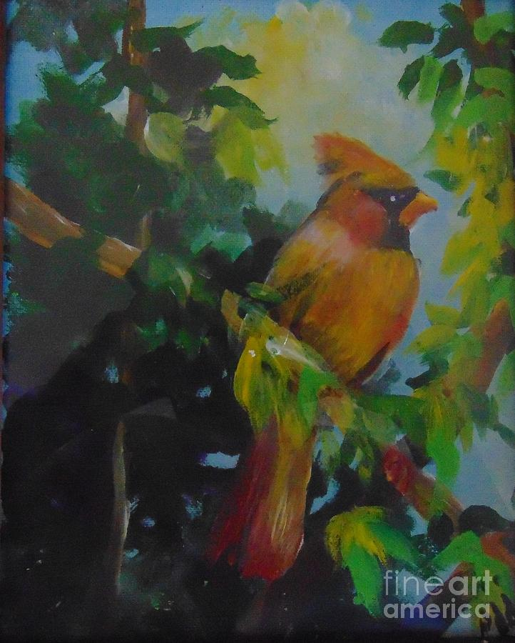 Female Cardinal by Saundra Johnson