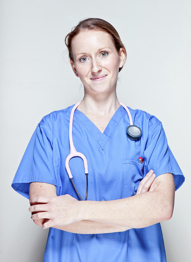 Female Doctor Photograph by James Whitaker