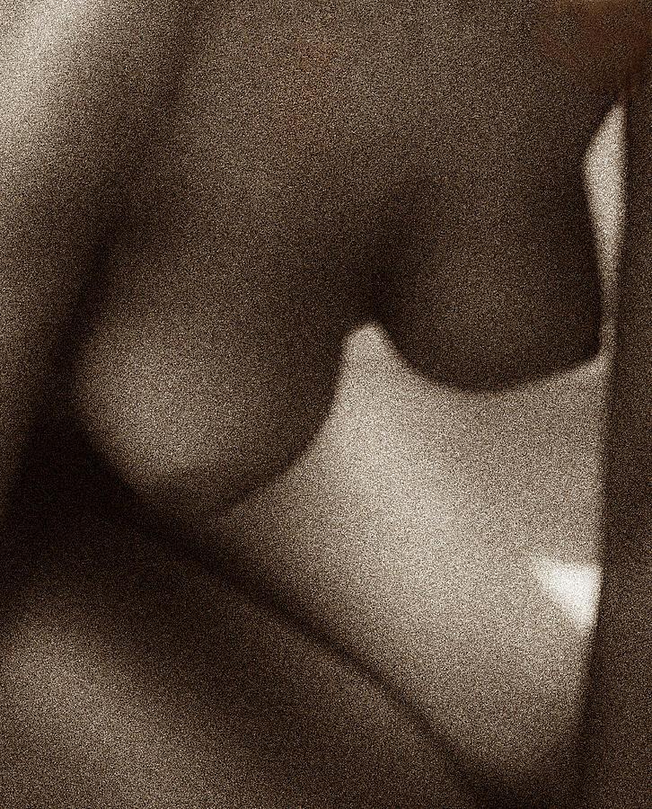 Female grainy torso by Anders Kustas