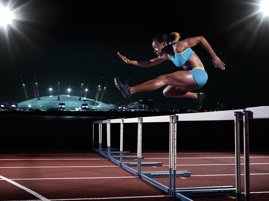 Female Hurdling In London Photograph by Mike Harrington