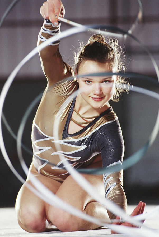 Female Rhythmic Sports Gymnast Photograph by Terje Rakke