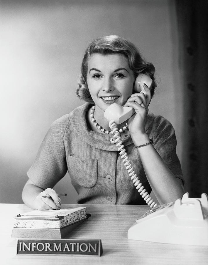 Female Telephone Receptionist At Photograph by H. Armstrong Roberts