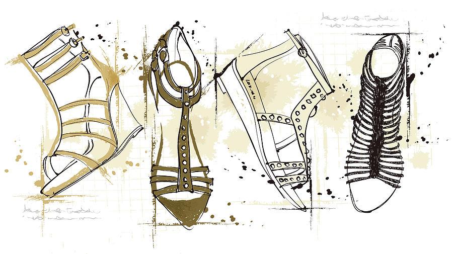Feminine Sandals Digital Art by Eastnine Inc.