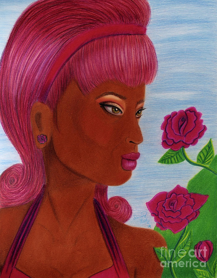 Femmes And Florals Retro Rose by Dorothy Lee