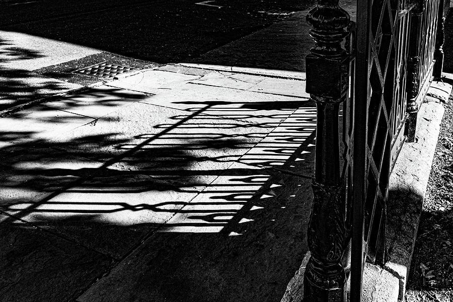 Fence Shadow by Tom Romeo