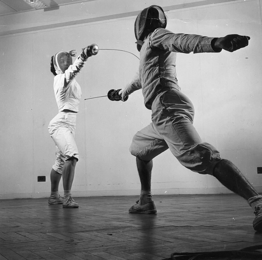 Fencers Training Photograph by Thurston Hopkins