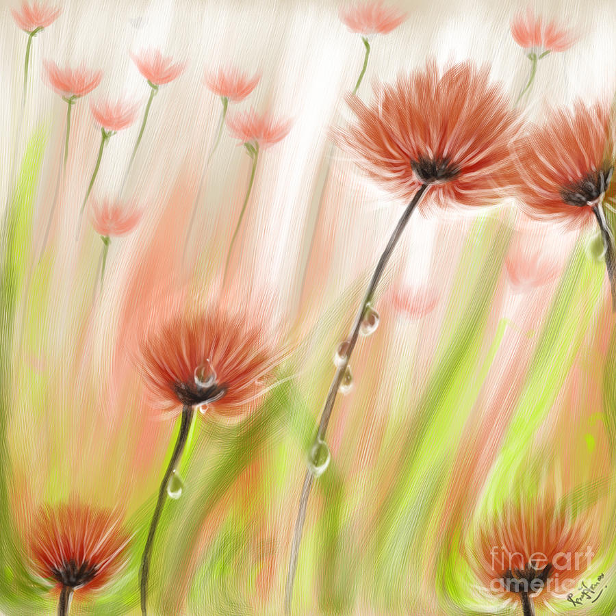 Feng Shui Digital Art - Feng Shui Your Life Dew Drops In The Wind by Remy Francis