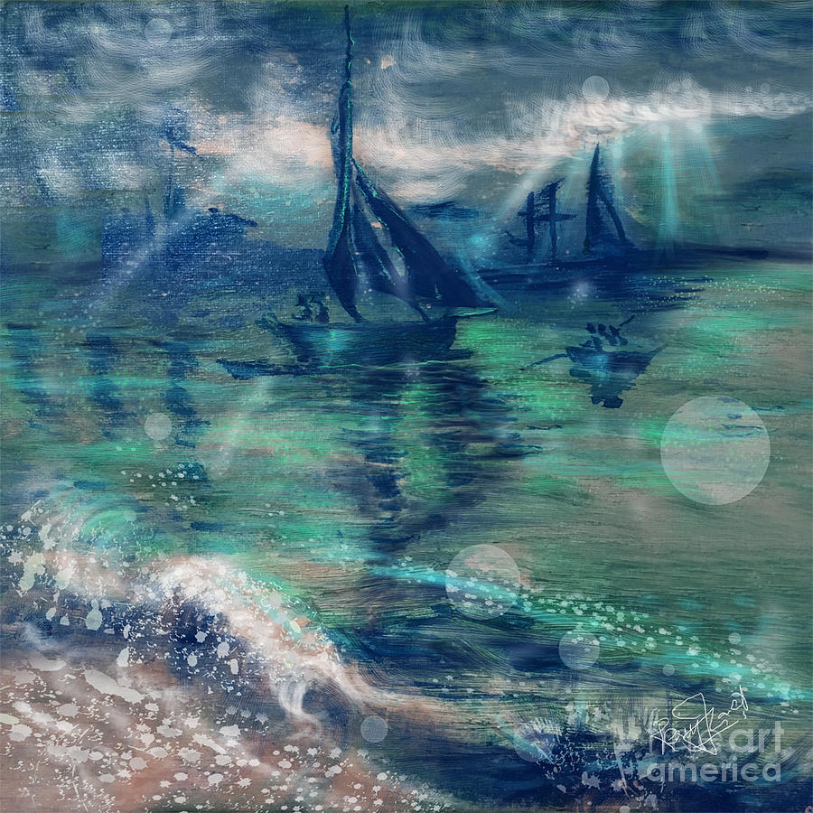 Feng Shui Painting - Feng Shui your Life - Lucky Sailing Boat by Remy Francis
