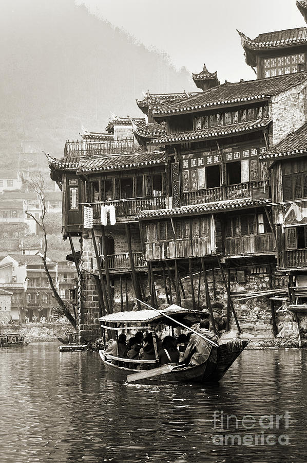 China Photograph - Fenghuang, Phoenix Ancient Town by Delphimages Photo Creations