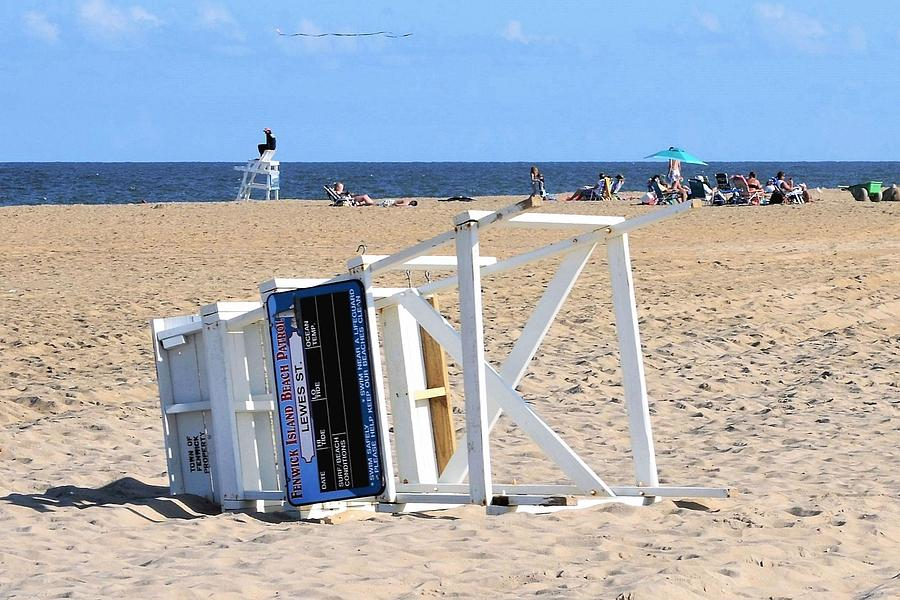 Fenwick Island Lifeguard Chair by Kim Bemis