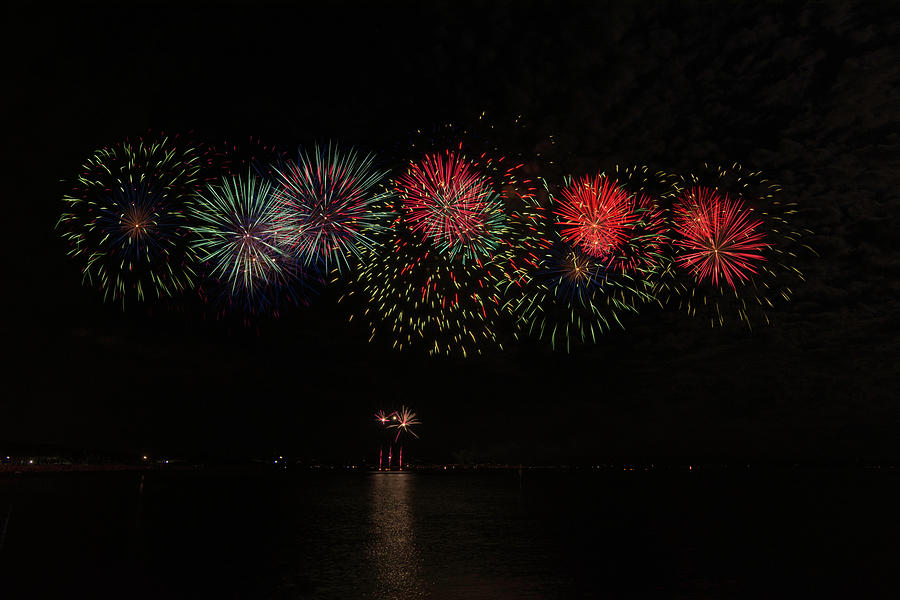 Ferragosto Fireworks in Grado by Wolfgang Stocker