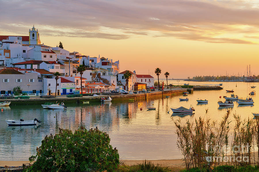 Ferragudo village sunset by Mikehoward Photography