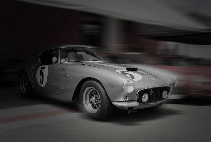 Ferrari Pyrography - Ferrari 250 GTB Before The Race by Naxart Studio