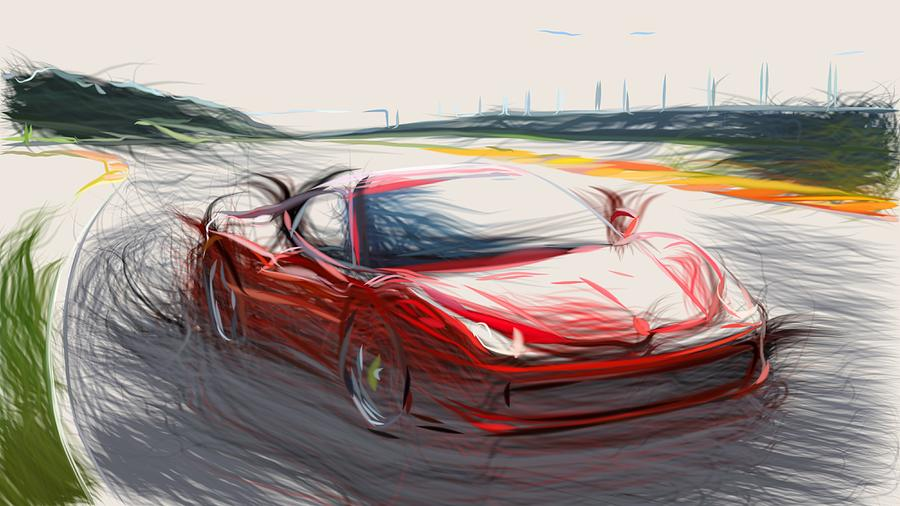 Ferrari 458 Italia Draw