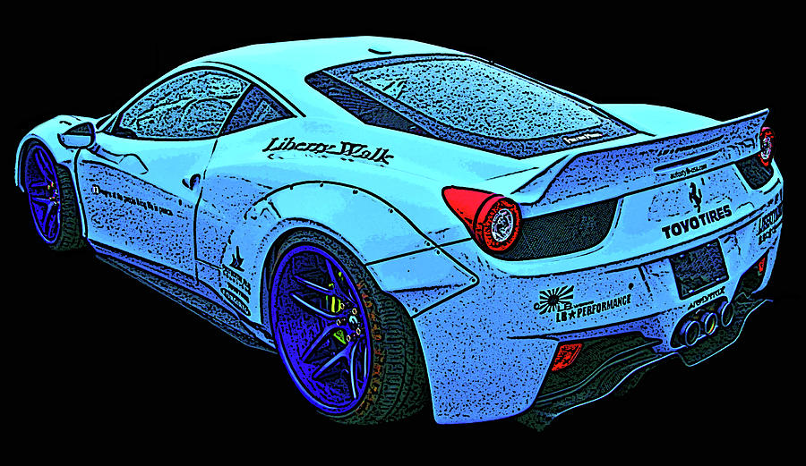 Ferrari 458 Liberty Walk by Samuel Sheats