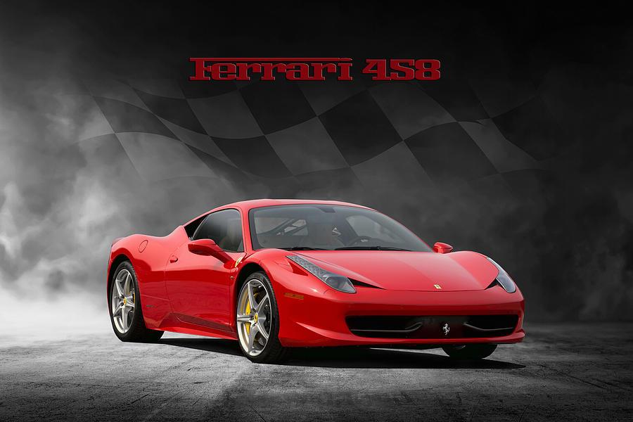 Ferrari Digital Art - Ferrari 458 by Peter Chilelli