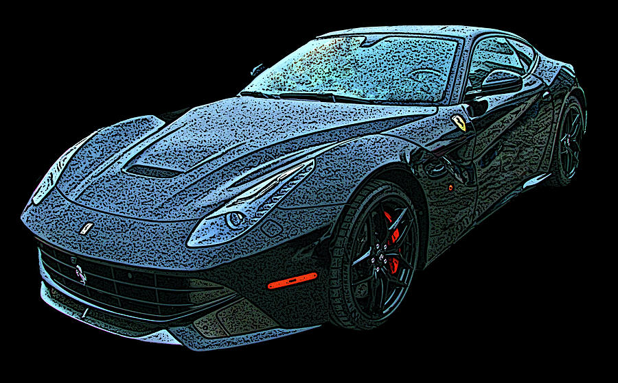 Ferrari F12 in Black by Samuel Sheats