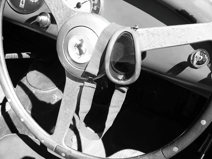 Ferrari Pyrography - Ferrari Steering Wheel I by Naxart Studio