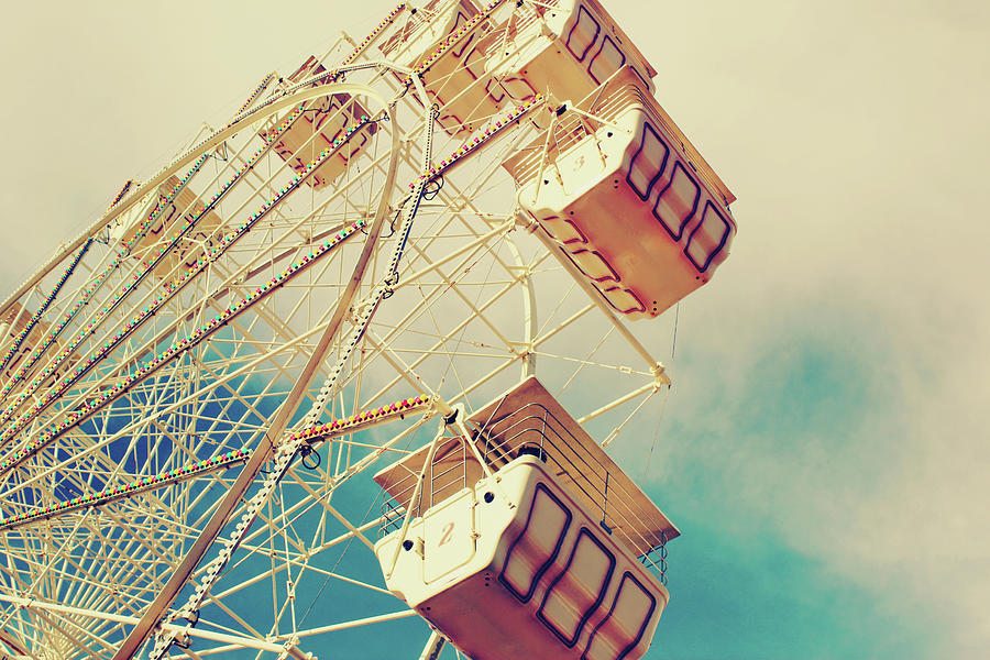 Ferris Wheel Against The Summer Sky Photograph by Amanda Mabel Photography