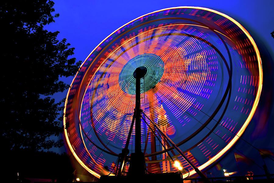 Ferris wheel at night by Bill Jonscher