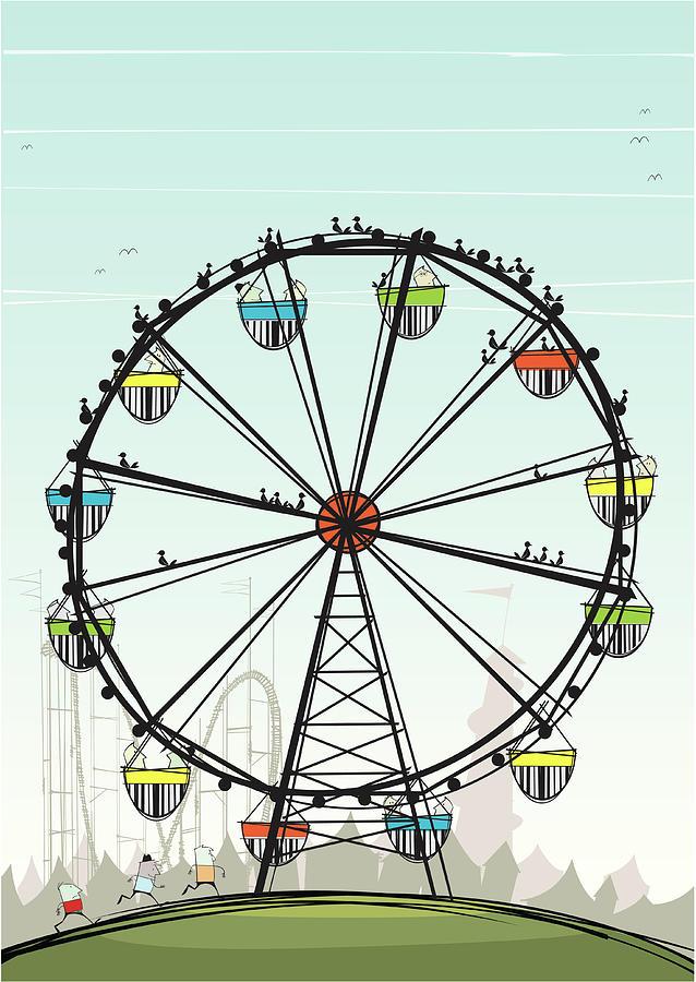 Ferris Wheel Digital Art by Jcgwakefield