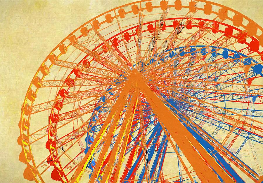 Ferris Wheel Multicolored by Dan Sproul