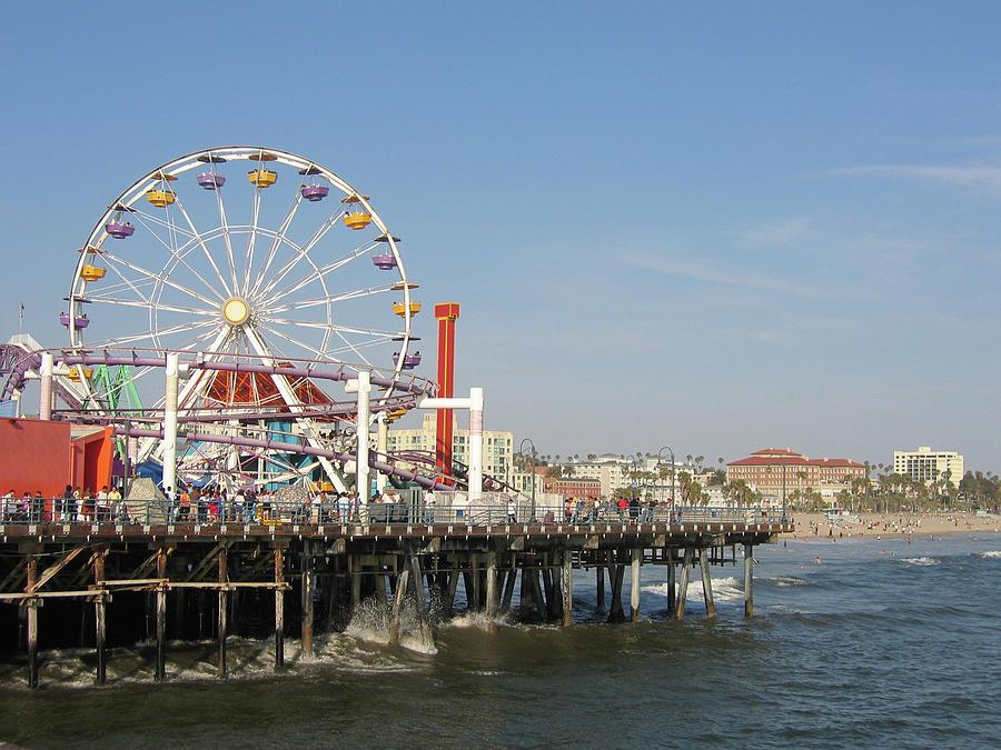 Ferris Wheel On The Pier Photograph by Joebrandt