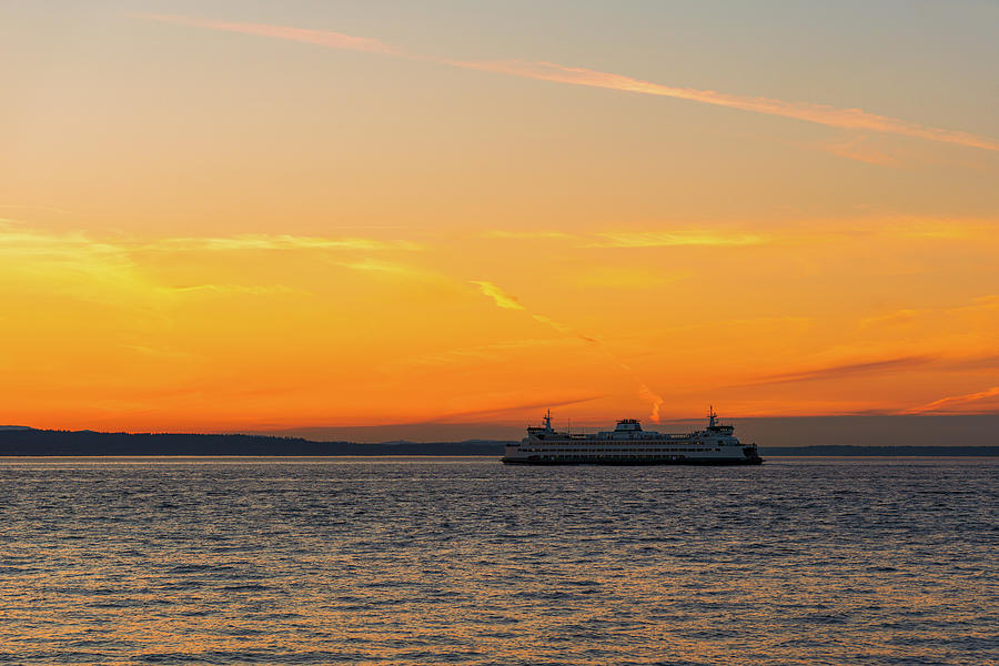 Ferry at Puget Sound by Michael Lee