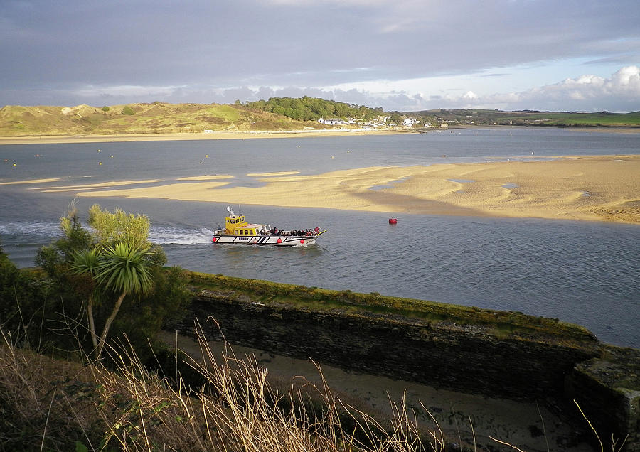 Ferry Boat River Camel Padstow Cornwall by Richard Brookes