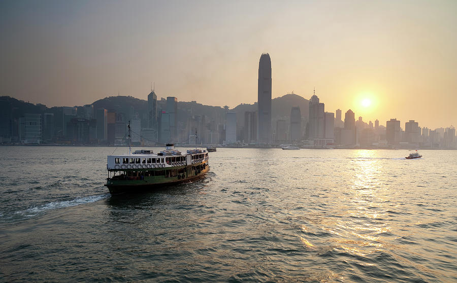 Ferry Boat To Hong Kong Photograph by Simonbradfield
