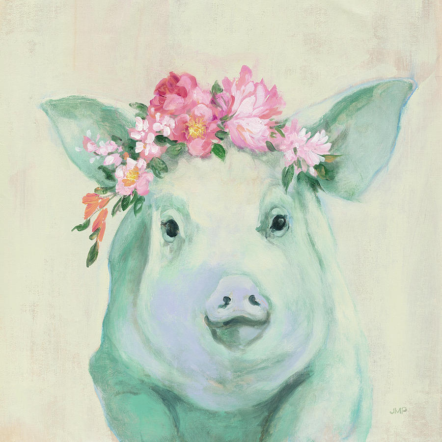 Animals Painting - Festival Girl Iv by Julia Purinton