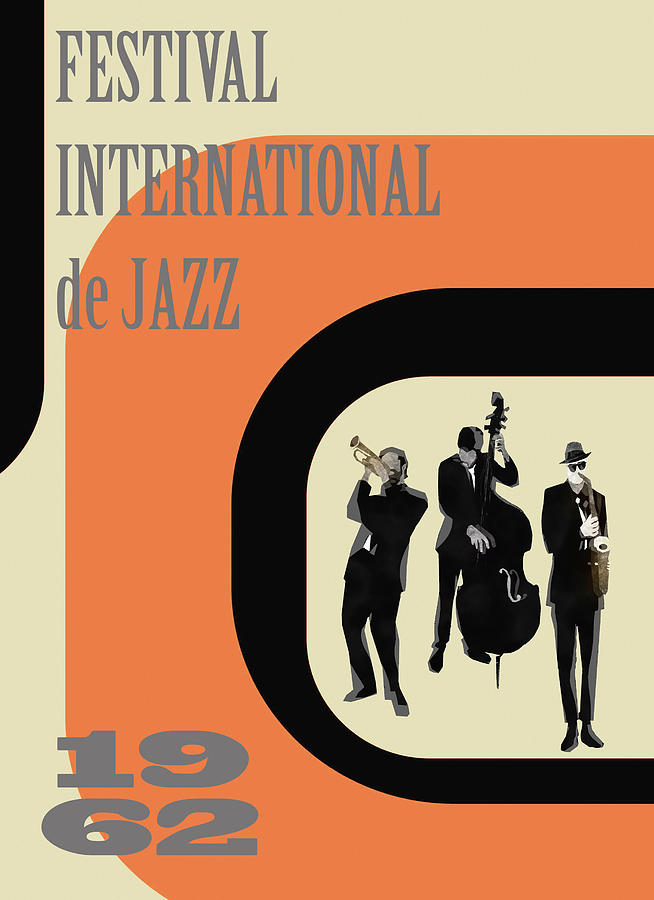 Cool Jazz Digital Art - Festival international de Jazz, by Regina Wyatt