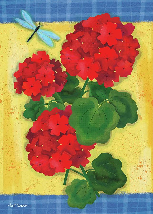 Flowers Digital Art - Festive Florals 1 by Holli Conger