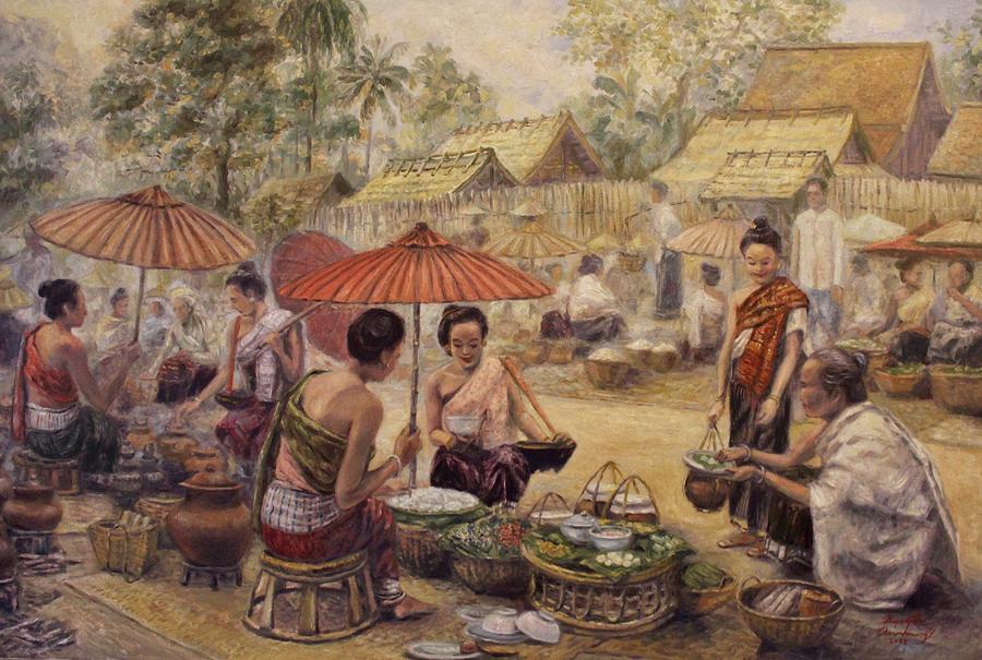 Festive Marketplace by Sompaseuth Chounlamany