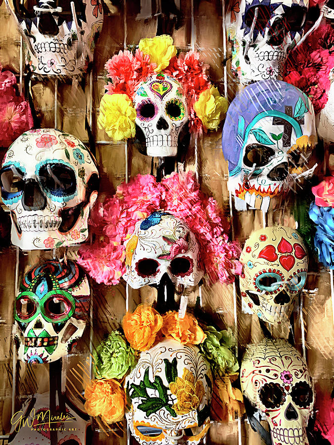 Festive Masks of the Dead by GW Mireles
