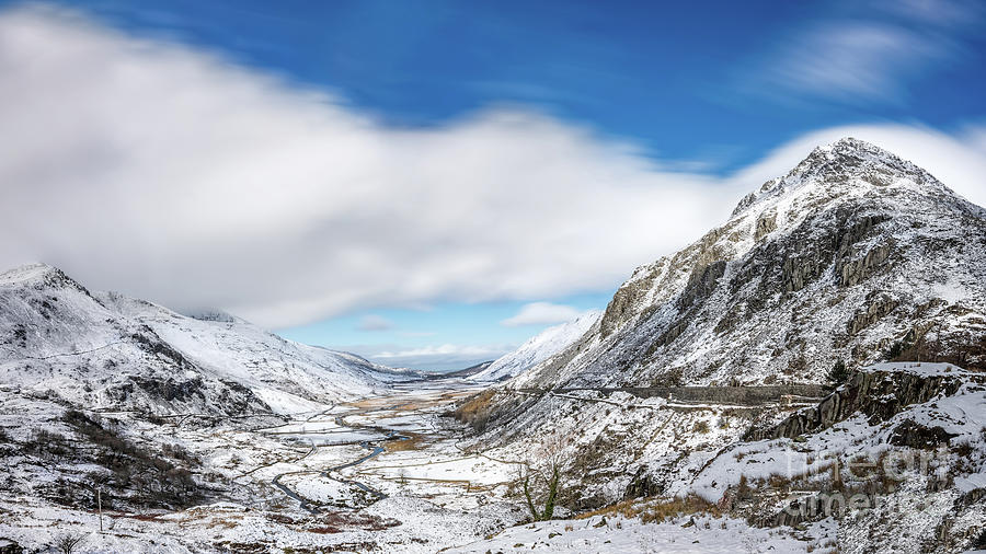 Nant Ffrancon Pass and Pen yr Ole Wen Snowdonia by Adrian Evans