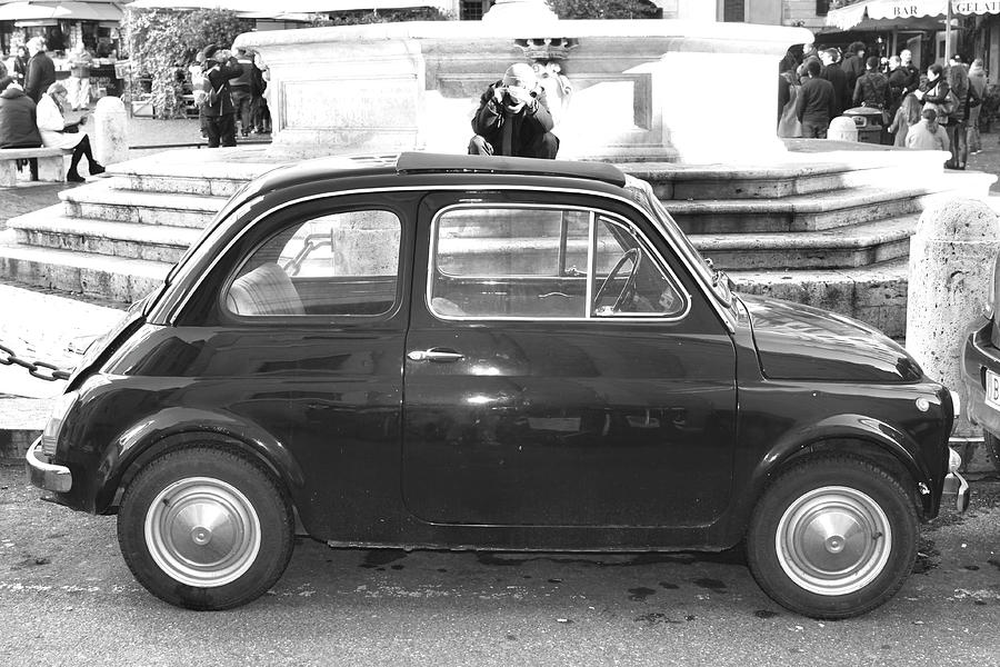 Italy Photograph - Fiat Cinquecento Black in Rome by Stefano Senise