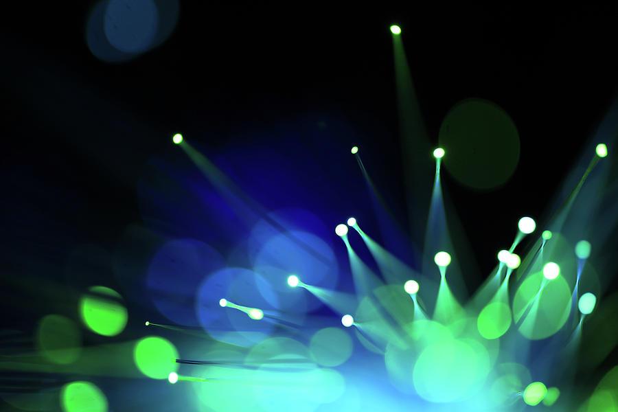 Fiber Optics Close-up Photograph by Pictafolio