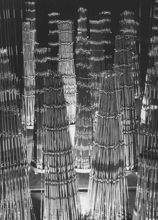 Fiberglass Fishing Rods Awaiting Complet Photograph by Ralph Crane