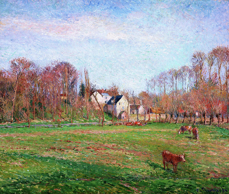 France Photograph - Field And Mill At Osny - Digital Remastered Edition by Camille Pissarro