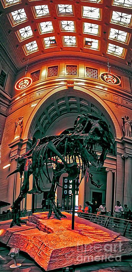 Field Museum Chicago Display Floor Sue Mastodon Tyrannosaurus T Rex Dinosaur Interior 3120600010 by Tom Jelen